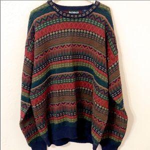 Bachrach Sweater Vintage Coogi Biggie knitted XL